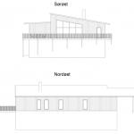 Fasadetegning, sør-øst og nord-øst